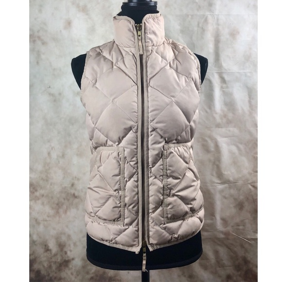 f18e2732a J. Crew Tan Quilted Vest